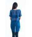 Bluza albastra asimetrica  - 2
