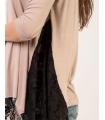 Bluza cu colturi din dantela  - 2