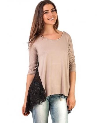 Bluza cu colturi din dantela  - 3