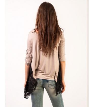 Bluza cu colturi din dantela  - 4