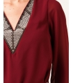 Bluza eleganta visinie din voal  - 3