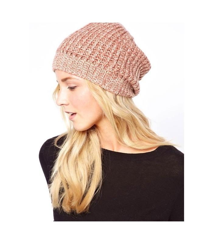 Caciula tricotata roz  - 1