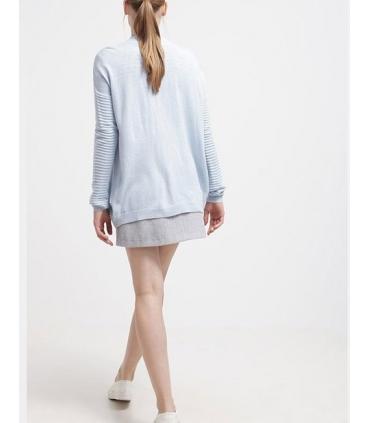 Cardigan albastru texturat  - 4