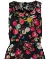 Rochie neagra stil vintage cu imprimeu floral  - 1