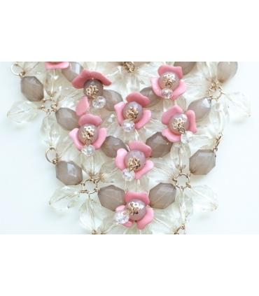 Colier elegant cu flori  - 3