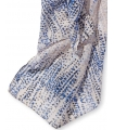 Esarfa lunga cu picatele roz si albastre  - 2