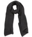 Fular tricotat gri-inchis  - 1