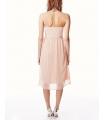 Rochie roz prafuit eleganta, fara bretele, vaporoasa  - 3