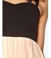 Rochie de ocazie in doua culori, neagru si crem  - 3