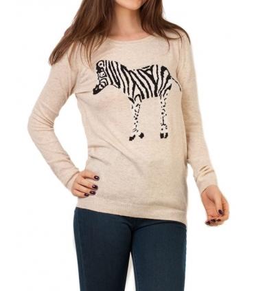 Bluza crem cu zebra