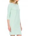 Rochie albastru pastelat, eleganta cu sclipici discret argintiu  - 5