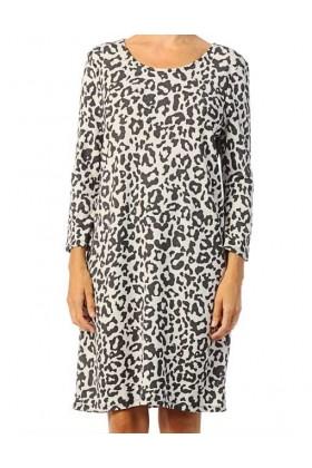 Rochie lejera cu imprimeu stil leopard  - 1