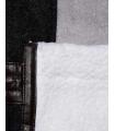 Palton gri cu blanita alba  - 4