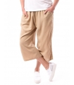 Pantaloni 3/4 culottes bej  - 1