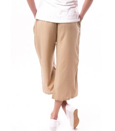 Pantaloni 3/4 culottes bej  - 3