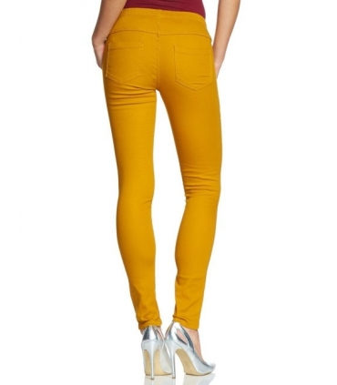 Pantaloni skinny galbeni stil colanti  - 2