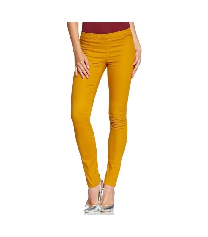 Pantaloni skinny galbeni stil colanti  - 1