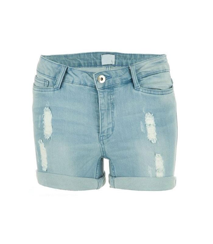 Pantaloni scurt de blug albastru  - 1