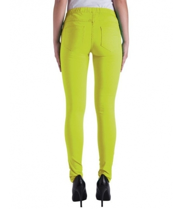 Pantaloni galben neon tip colant  - 2