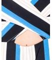 Salopeta lunga cu dungi colorate fara bretele Parisian - 7