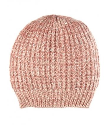 Caciula tricotata roz  - 4