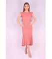 Rochie de seara cu spatele gol de culoare roz  - 2