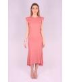 Rochie de seara cu spatele gol de culoare roz  - 5