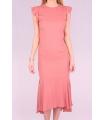 Rochie de seara cu spatele gol de culoare roz  - 6