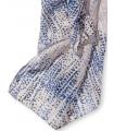 Esarfa lunga cu picatele roz si albastre  - 4