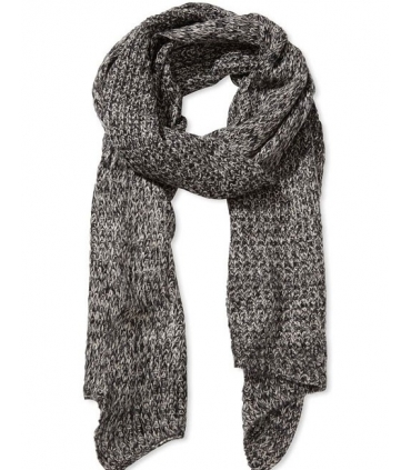 Fular gri tricotat  - 2