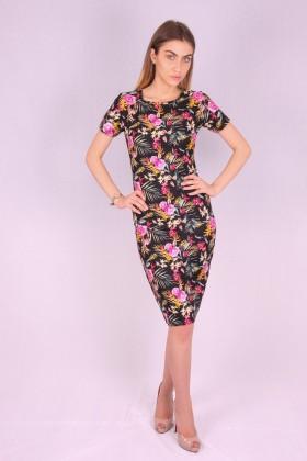 Rochie mulata cu model floral  - 1
