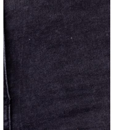 Blugi gri inchis skinny cu talie inalta si rupturi Parisian - 8