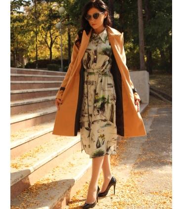 Palton elegant cu doua randuri de nasturi aurii  - 4