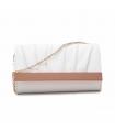 Clutch Carlie elegant cu detalii rose gold din piele ecologica  - 1