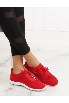Adidasi rosii, din material textil perforat  - 1