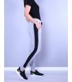 Pantaloni Sport Gri cu Dunga Neagra  - 3