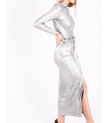 Rochie lunga metalica  - 2