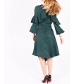Rochie asimetrica de culoare verde  - 4