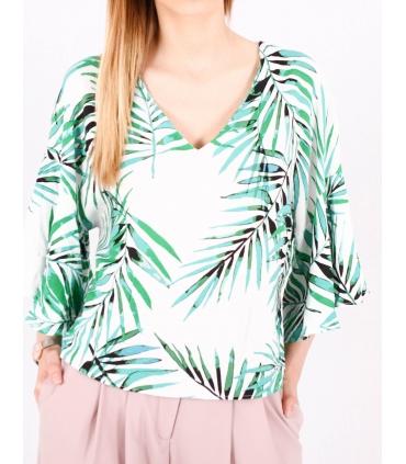 Bluza cu frunze imprimate Raspberry - 3