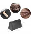 Geanta tip sac din piele ecologica neagra cu accesoriu din blanita  - 3