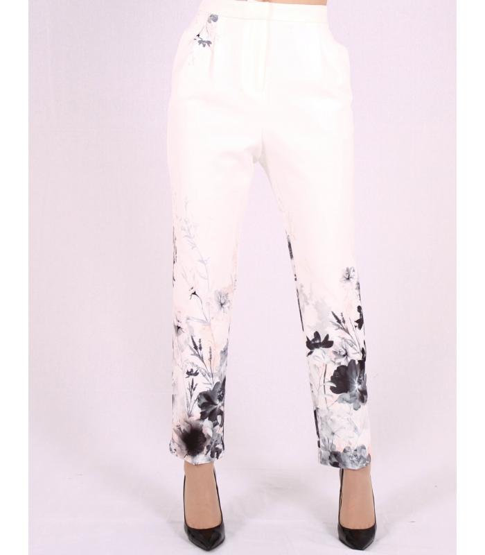 Pantaloni cu imprimeu floral Raspberry - 1