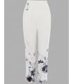 Pantaloni cu imprimeu floral Raspberry - 5