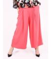 Pantaloni roz evazati  - 1