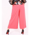 Pantaloni roz evazati  - 5