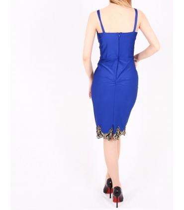 Rochie mulata albastra cu bust buretat  - 4