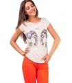 Tricou imprimat cu elefanti colorati  - 1