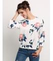 Bluza alba cu trandafiri  - 2